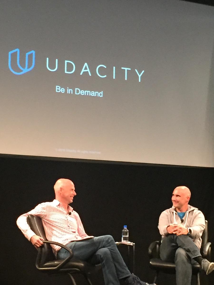 Sebastian Thrun & Axel Gern bei Udacity