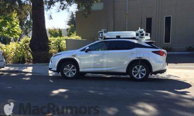 Apple Lexus Autonomous Car (C) MacRumors