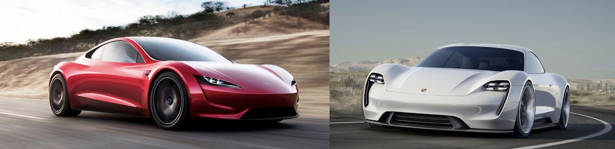 Der Neue Tesla Roadster Im Vergleich Zum Porsche Mission E Der Letzte F 252 Hrerscheinneuling