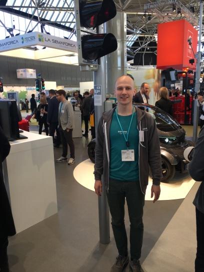 David Borst von Siemens auf der Intertraffic 2018 in Amsterdam